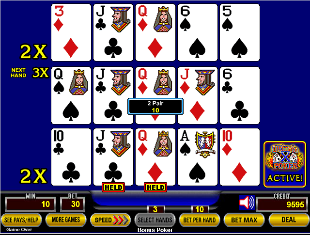 ultimate x multi hand video poker